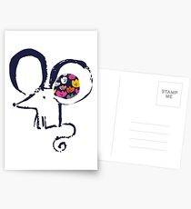 Blob flower ear mouse Postcards