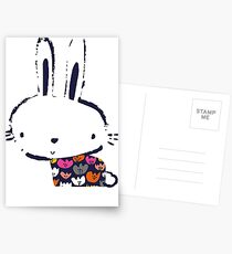 Blob flower bunny Postcards