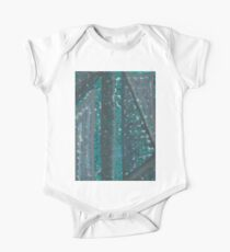 Quark - Abstract Painting (turquoise design) One Piece - Short Sleeve