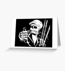 Skull and Pipes Greeting Card