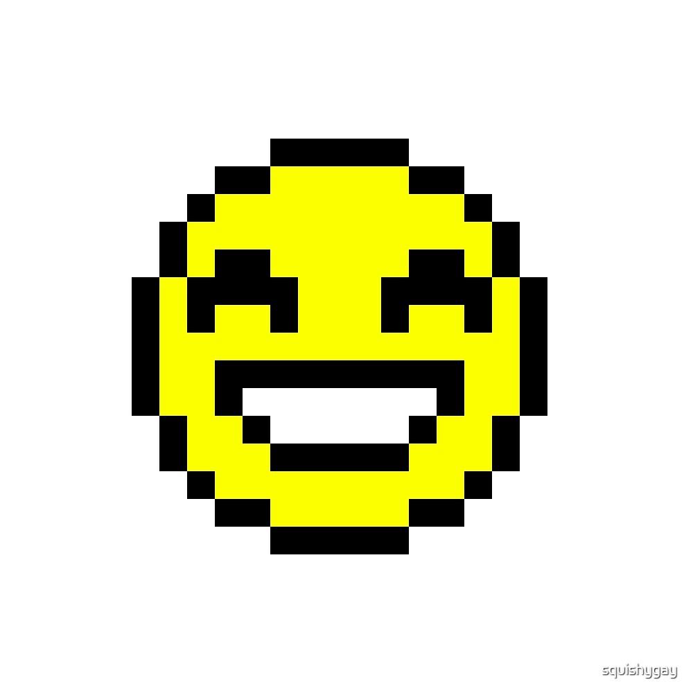 """Pixel Smiley Emoji"" By Squishygay"