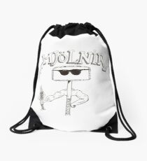 And Who's He Holding? Drawstring Bag