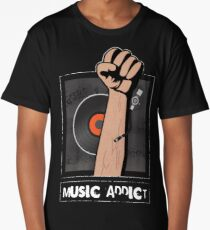 Music Addict... Long T-Shirt