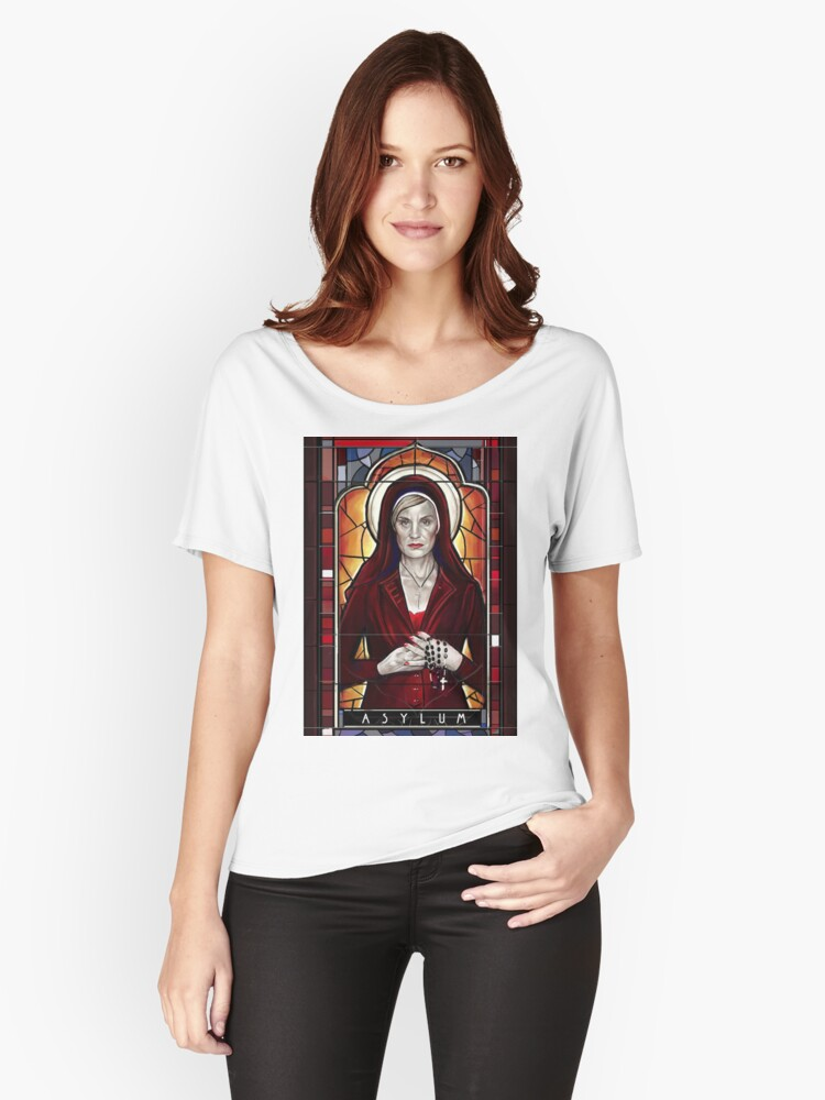 American Horror Story Asylum Women's Relaxed Fit T-Shirt Front
