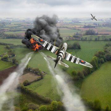 Hawker Typhoon rocket attack by garyeason