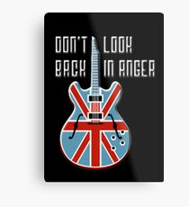 Music Don't Look Back in Anger Print Guitar Metal Print