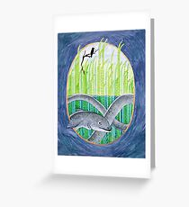 The Scarred Conger Eel Greeting Card