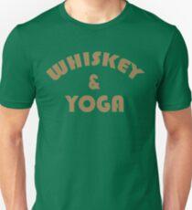 Whiskey & Yoga Funny Geek Nerd Unisex T-Shirt