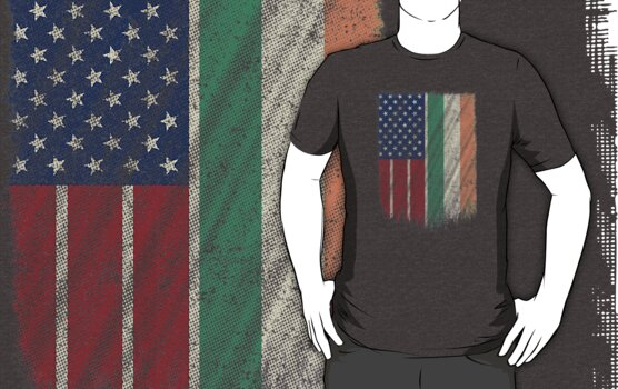 Irish American Design Irish American Flag Pride