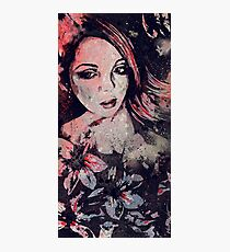 Ruined Our Everything: Red (graffiti flower lady portrait) Photographic Print