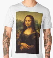 mona lisa leonardo da vinci Men's Premium T-Shirt