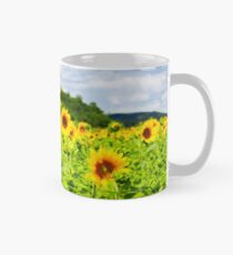 sunflower field in the mountains Mug