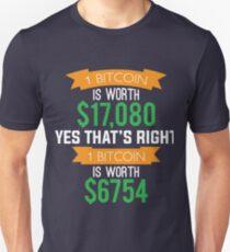 Bitcoins Unisex T-Shirt