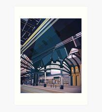 York railway station- illustration Art Print