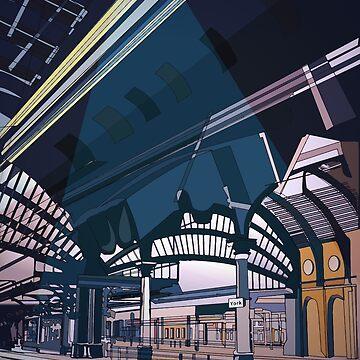 York railway station- illustration by juliechicago