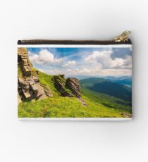 beautiful mountain scenery in summer Studio Pouch