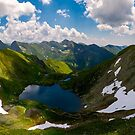 Panorama of Fagaras mountains of Romania by mike-pellinni