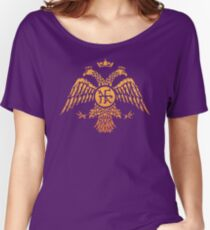 Byzantine Eagle Symbol Flag Women's Relaxed Fit T-Shirt