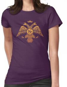 Byzantine Eagle Symbol Flag Womens Fitted T-Shirt