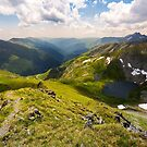 beautiful landscape of Romanian mountains by mike-pellinni