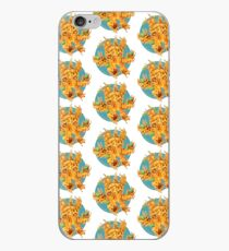 M is for MACREEPY MAC AND CHEESE! (blue) iPhone Case