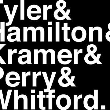 Aerosmith Band Members Typography by Crampsy