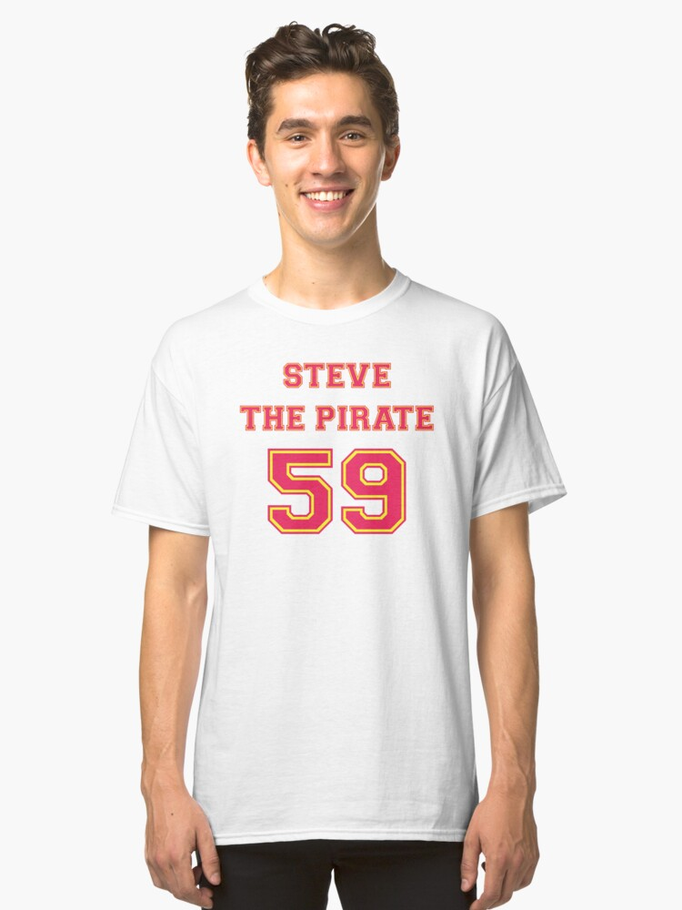 steve the pirate classic t shirt by mark5ky redbubble