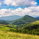 village in the valley of Carpathian mountains by mike-pellinni