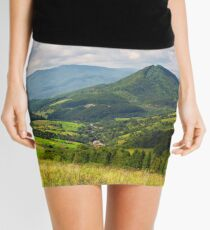 village in the valley of Carpathian mountains Mini Skirt