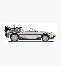 DeLorean - Back to the futur Photographic Print