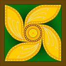 Celtic Lotus Spiral  by Cleave