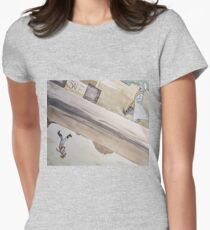 two sides of a world Women's Fitted T-Shirt