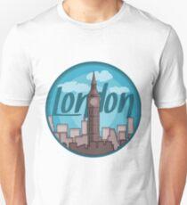 London Skyline Sticker Unisex T-Shirt