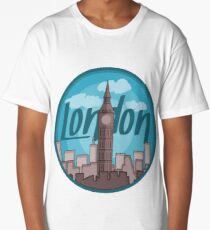 London Skyline Sticker Long T-Shirt