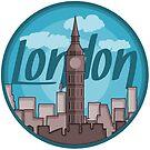 London Skyline Sticker by pda1986