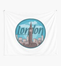 London Skyline Sticker Wall Tapestry