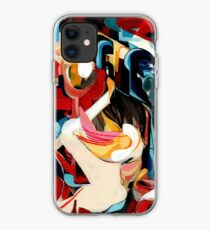 Expressive Abstract Composition painting  iPhone Case