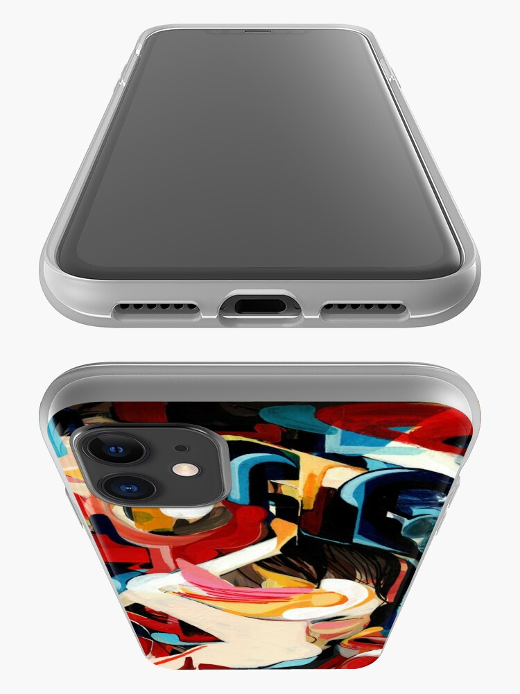 Alternate view of Expressive Abstract Composition painting  iPhone Case & Cover