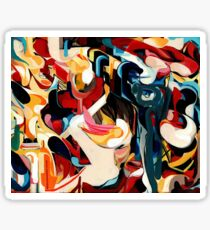 Expressive Abstract Composition painting  Sticker