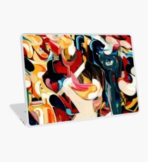Expressive Abstract Composition painting  Laptop Skin
