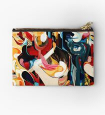 Expressive Abstract Composition painting  Zipper Pouch
