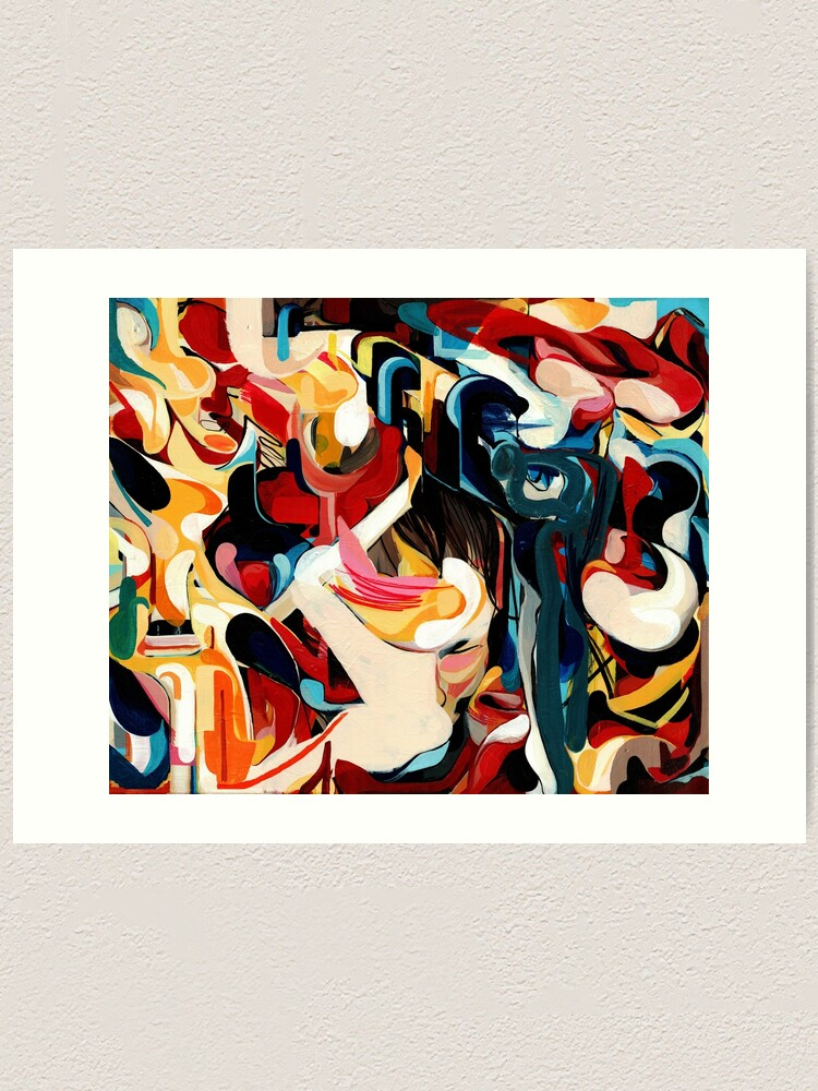 Alternate view of Expressive Abstract Composition painting  Art Print