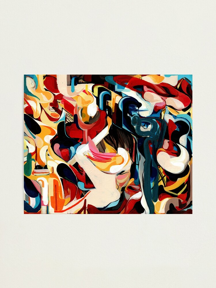 Alternate view of Expressive Abstract Composition painting  Photographic Print