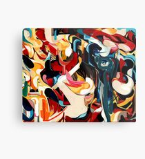 Expressive Abstract Composition painting  Metal Print