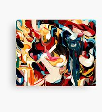 Expressive Abstract Composition painting  Canvas Print