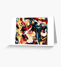 Expressive Abstract Composition painting  Greeting Card