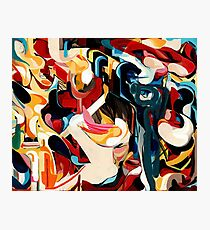 Expressive Abstract Composition painting  Photographic Print