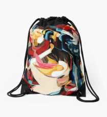 Expressive Abstract Composition painting  Drawstring Bag