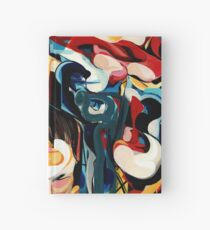 Expressive Abstract Composition painting  Hardcover Journal