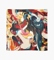 Expressive Abstract Composition painting  Scarf